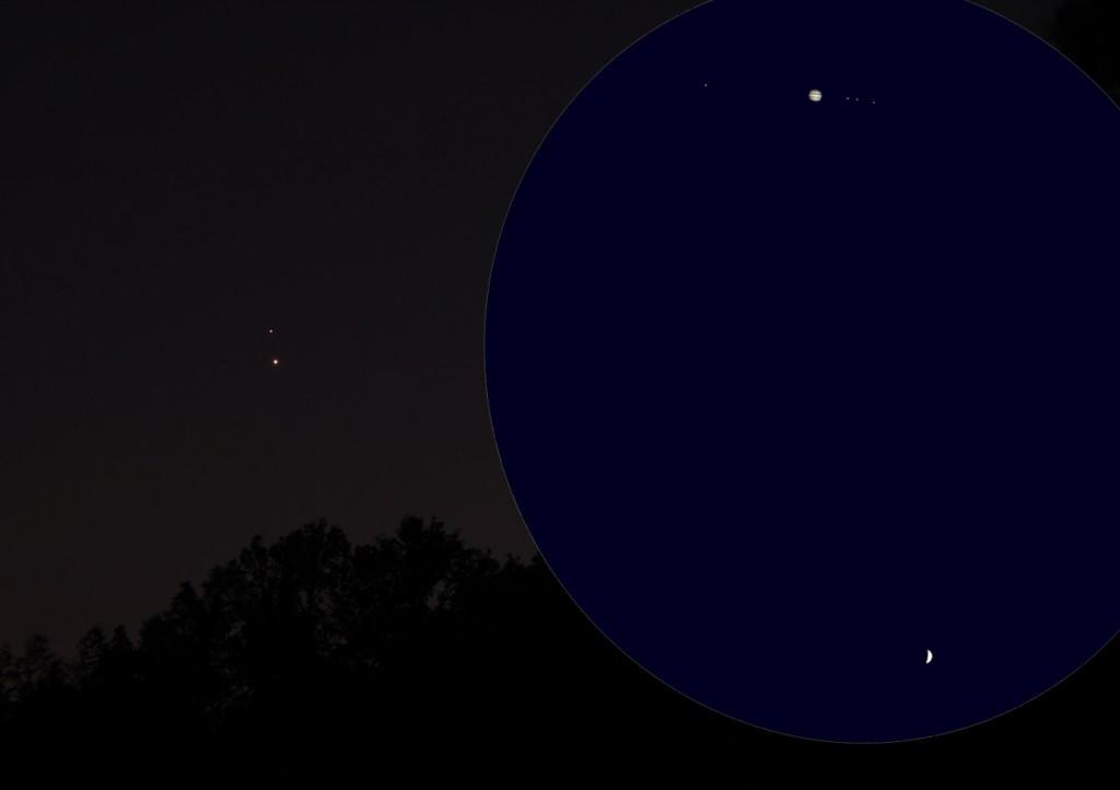 Jupiter Vénus 30 juin 2015